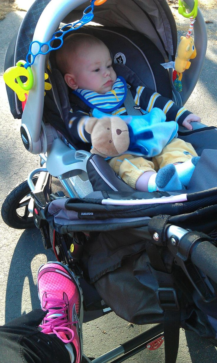 "@FitMom4Life FitMom4Life.com needs three things for a good run: ""My baby, Bob stroller, & Brooks sneakers."" #purecadence"