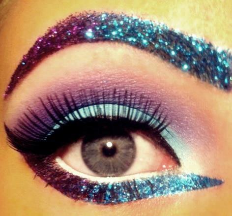 ♥Purple Turquoise Eye Makeup