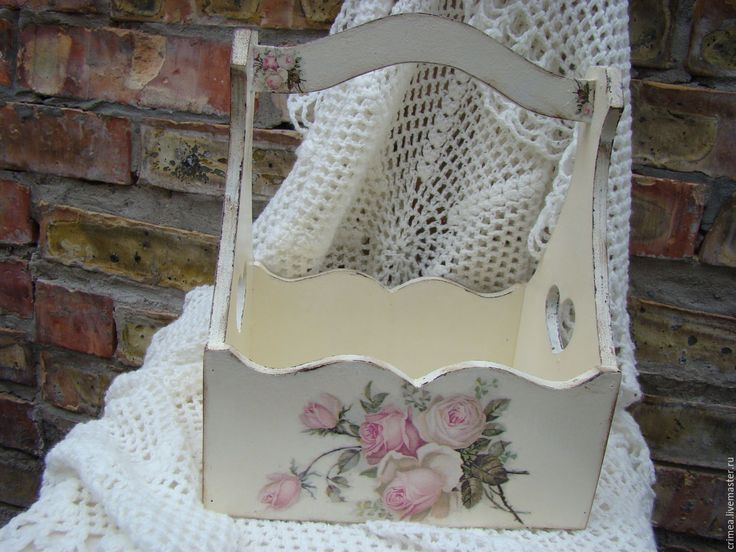 Купить Короб-корзина Винтажные розы - бежевый, корзина, короб для хранения, розы, винтаж