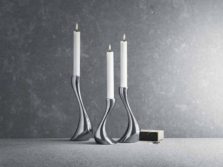 Cobra candlestick. Designed by Constantin Wortmann. Manufacturer: Georg Jensen. Have x2.