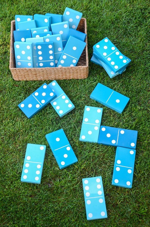7/ Un domino haut en couleur Ce jeu est parfait pour les barbecues et pour faire patienter les invités avant le repas. Mettez en place une partie de dominos avec des pièces faites maison! 8/ Un morpion rocheux Vous avez pu le remarquer, de nombreux jeux se déclinent en version grande taille et le morpion …