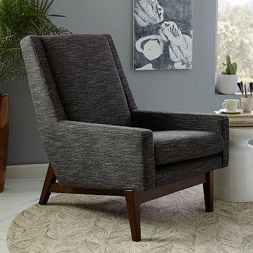 Faceted Wood Frame Armchair #westelm