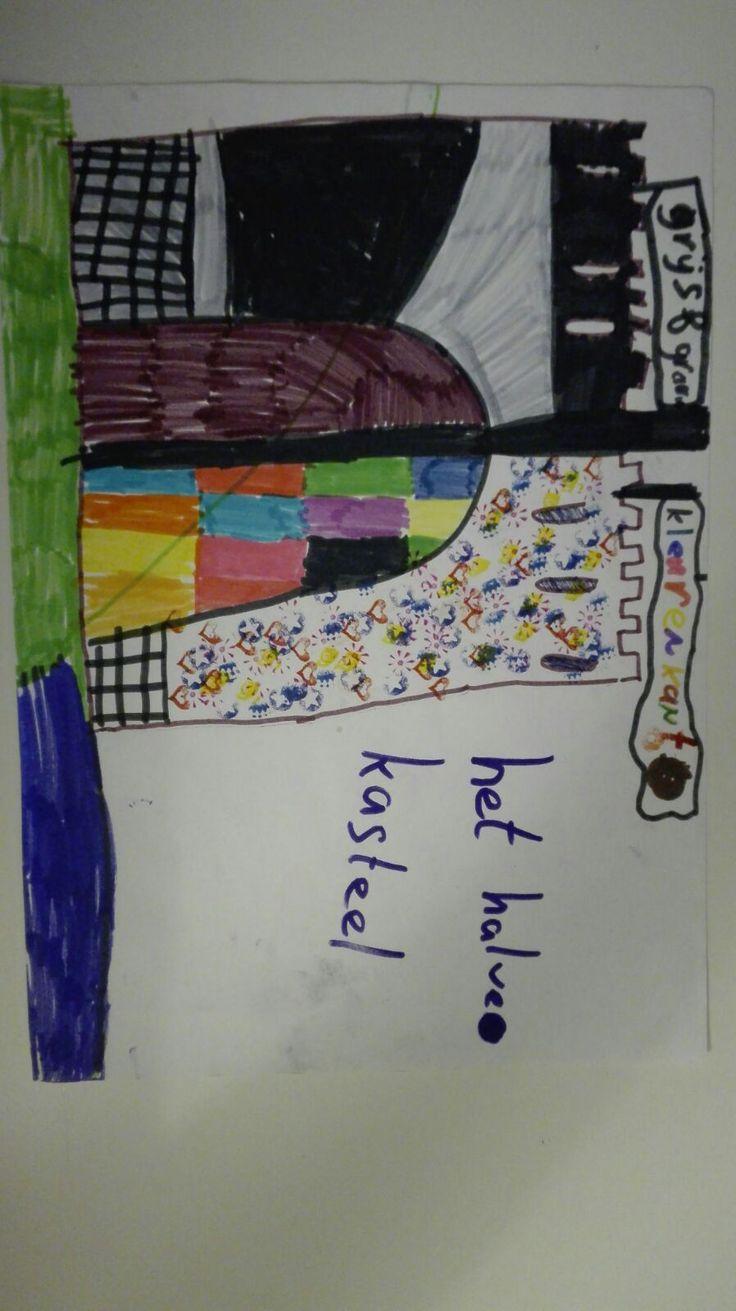Kindertijd: dit is een tekening die ik gemaakt heb toen ik ongeveer 8 jaar was.