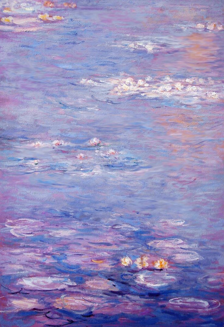 Cool Colour Temperature - Water lilies by Claude Monet uses colours like a pastel blue and lilac which is considered a cool temperature colour as well as cool blues and yellows and a cool orange.