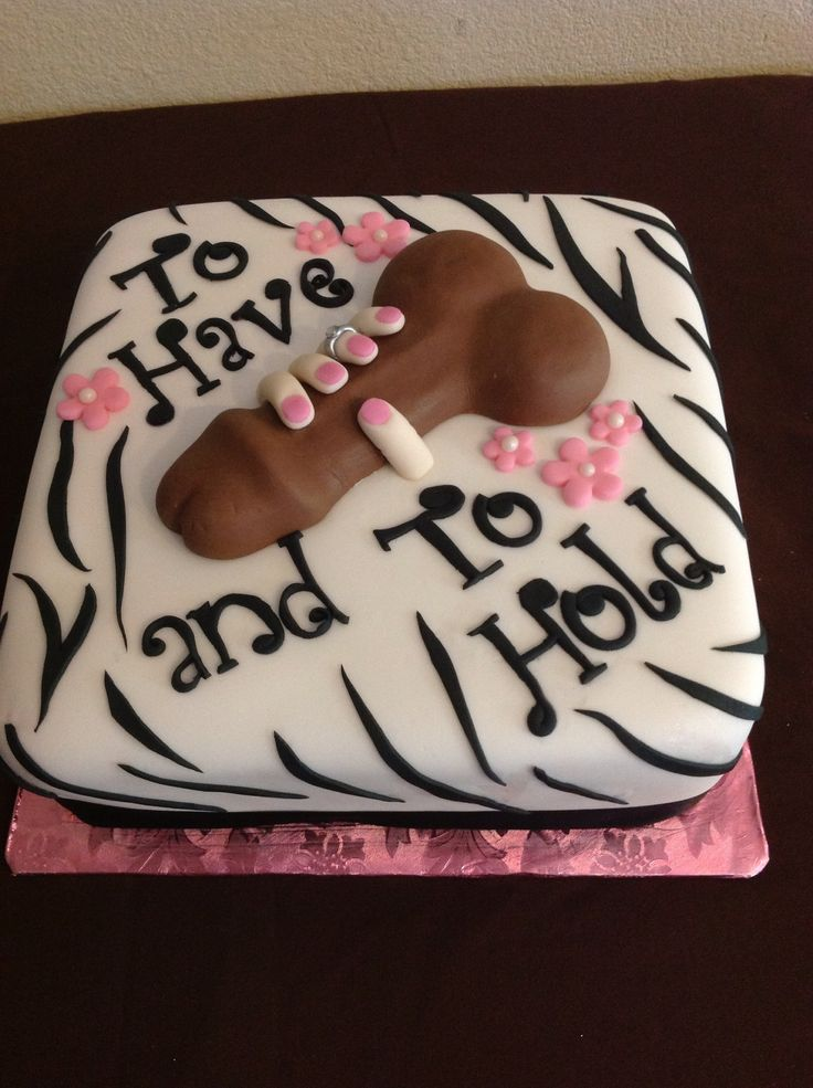 Bridal shower Cake I wouldnt have this but have to post for fun!!