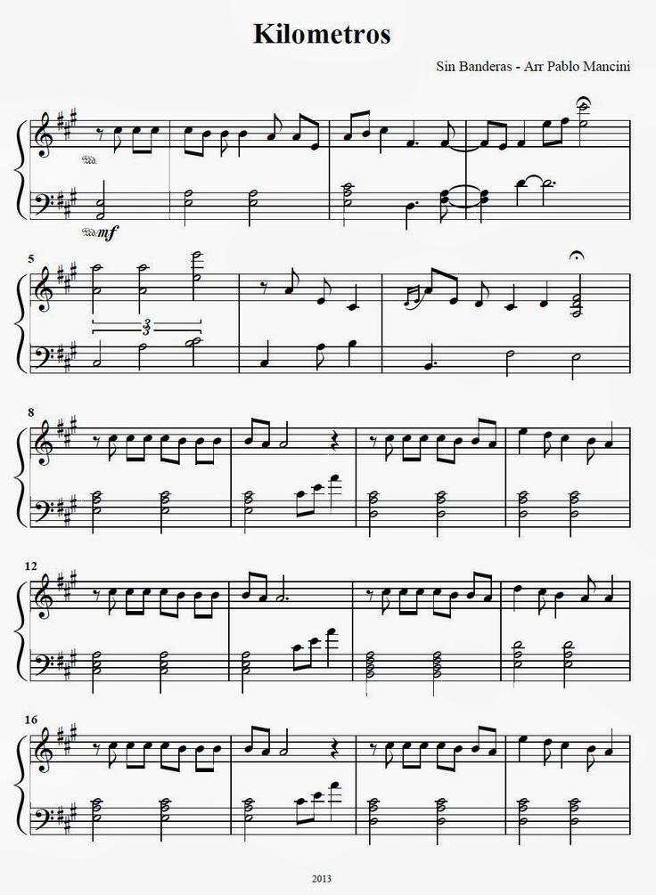 Partituras ineditas para piano kilometros sin bandera for Piani casa africani gratis