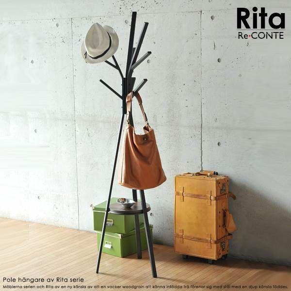 ■商品説明 Ritaシリーズはメラミンを使用しているので、熱に強く、水にも強く、傷がつきにくいので、メンテナンスが容易です。スチールには角に面取りの処理をしているので、鋭角な部分を排除し、やさしい作りになっています。ポールハンガーは真ん中に棚板を設置し、簡単な小物等を置けるようにし、脚元にも収納スペースを確保しました。ハンガー部は3本のバーから構成されていますが、1本長くアシンメトリなデザインになっています。お部屋に戻った際のコートや、鞄掛けに。デザインが、お部屋のアクセントになります。■本体サイズ [外寸]幅45×高さ180cm■組立時間(目安)(大人2人) お客様組立(30分)■キーワードハンガーラック おしゃれ コートかけ スリムハンガーラック スリム 玄関 シンプル おしゃれなハンガーラック インテリア ホワイト 省スペース 北欧 家具 ブラック ハンガーシェルフ コンパクト ポール