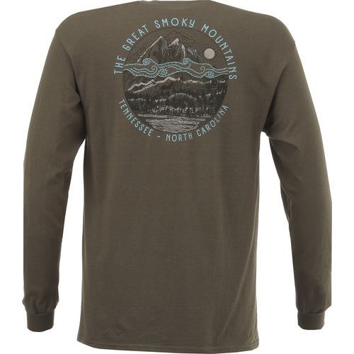 Magellan Outdoors Men's Great Smoky Mountains Long Sleeve T-shirt (Green Dark, Size Medium) - Men's Outdoor Apparel, Branded Graphic T's at Academy...