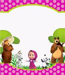 Resultado de imagen de masha y el oso invitaciones