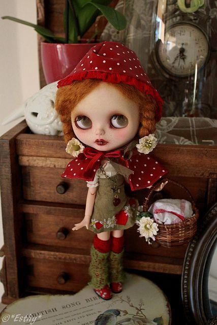 red riding hood #blythe #doll