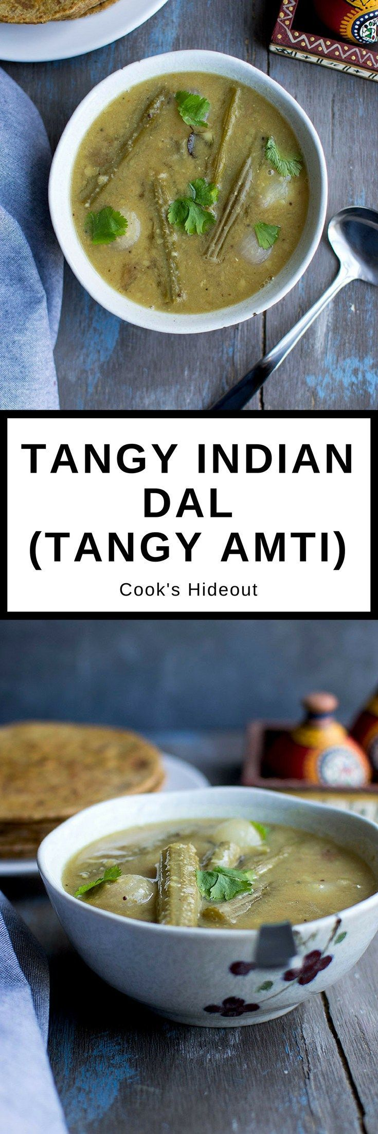 Tangy Amti is a simple everyday lentil dish that is hearty, comforting and very delicious. It uses freshly made Goda Masala which gives the dish an amazing flavor.