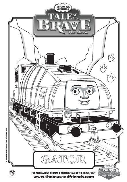Thomas Amp Friends Tale Of The Brave Gator Colouring In