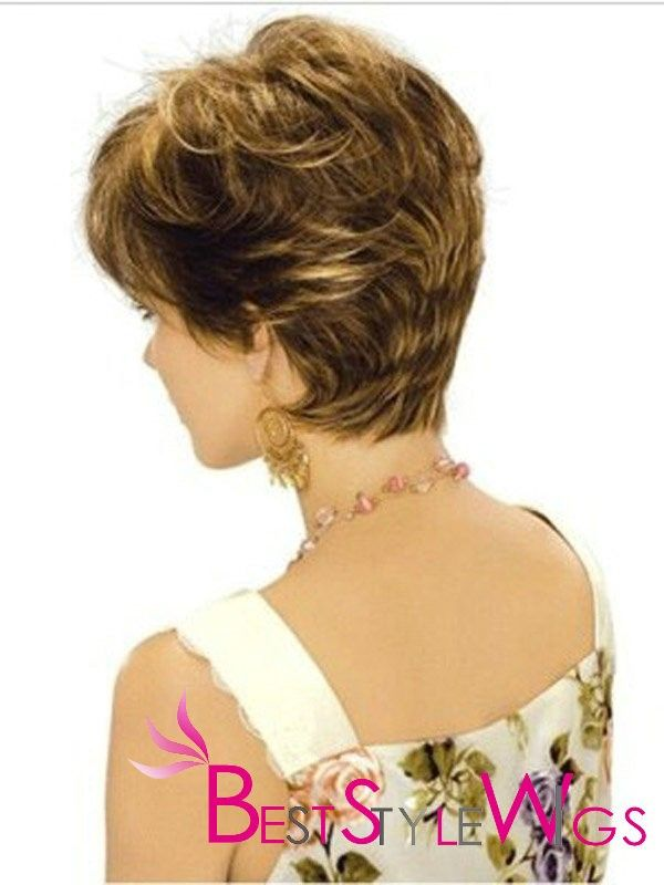 Short Feather Cut Long Neck Line Thick Hair Styles