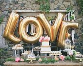 40 Inch Giant Letter Balloons / Wedding / Birthday Party / Baby Shower / Love / Just Married / Photos / Gold / Silver / Mylar Foil