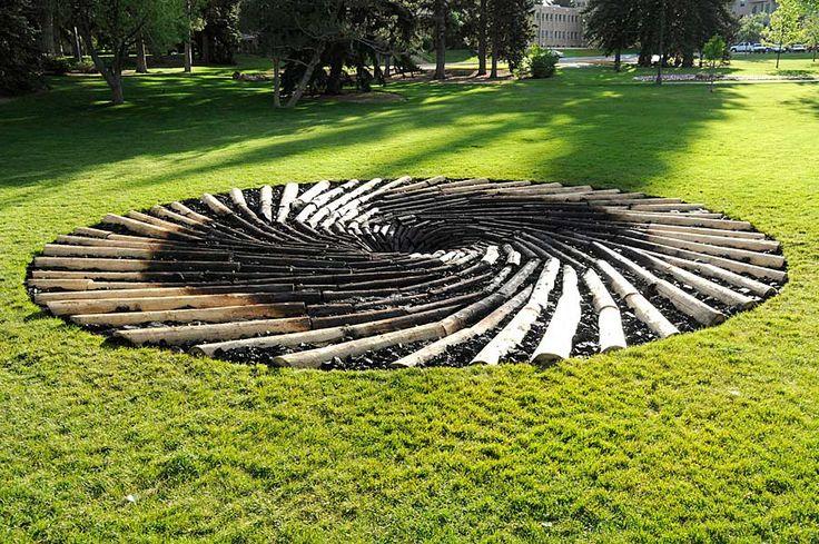 Pine Beetle Killed Log Installation