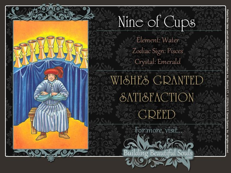 THE Nine of Cups TAROT CARD MEANINGS - UPRIGHT& REVERSED! The Nine of Cups Tarot includes LOVE, NUMEROLOGY, & SYMBOLS for more accurate TAROT READING.
