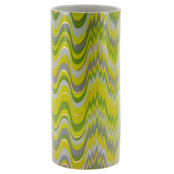 "Discover the Jonathan Adler Carnaby Acid Palm Vase - 4x9"" at Amara"