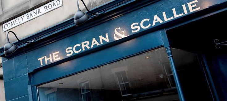 The Scran & Scallie: Gastropub sister of The Kitchin & Castle Terrance - 1 Comely Bank Road Stockbridge - Open for breakfast Sat/Sun at 8:30. Open weekdays 12pm-10pm (last order)