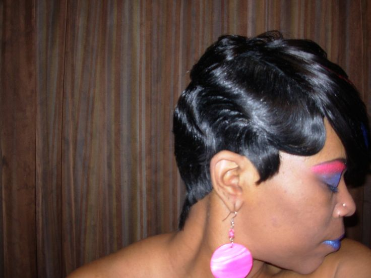 Finger Wave Hairstyle wavy medium length hairstyles shoulder length hairstyles finger waves hairstyle Fingerwavesblackhairstyles Raymona Hairstyles With Wigs Finger Wave Haircut Side