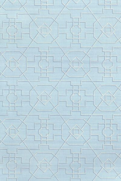 Thibaut Eastgate in blue, grasscloth