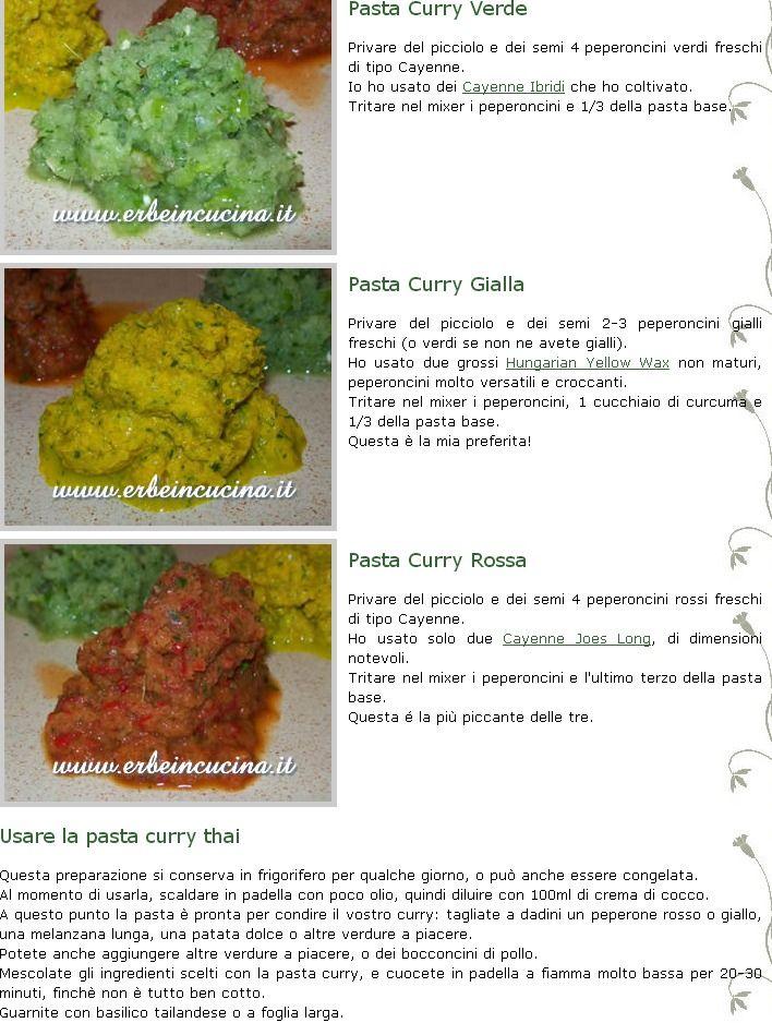 curry verde, giallo e rosso - parte 2