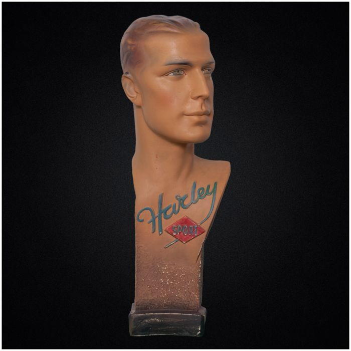 Online veilinghuis Catawiki: Harley Sports - Advertising bust - Early 20th century