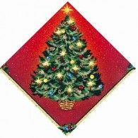 Luncheon Napkin Warmth of Christmas Pkt16 $6.95  A61981