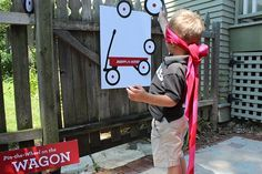 """Radio Flyer Party Games with FREE """"Pin the Wheel on the Wagon"""" Template"""