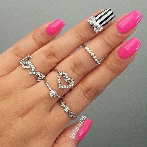 Luxury Rhinestone Bow Nail Charm
