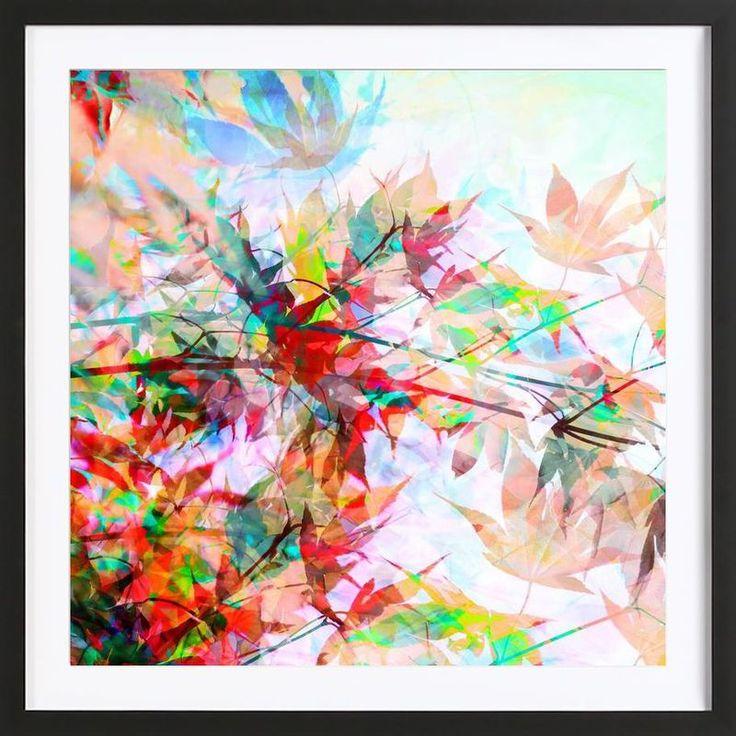 Abstract Autumn 2 als Poster in houten lijst | JUNIQE