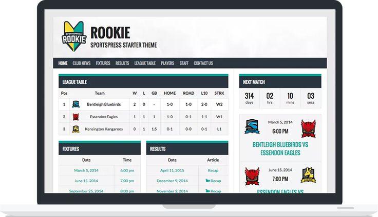Rookie - Free #WordPress Theme for #SportsPress