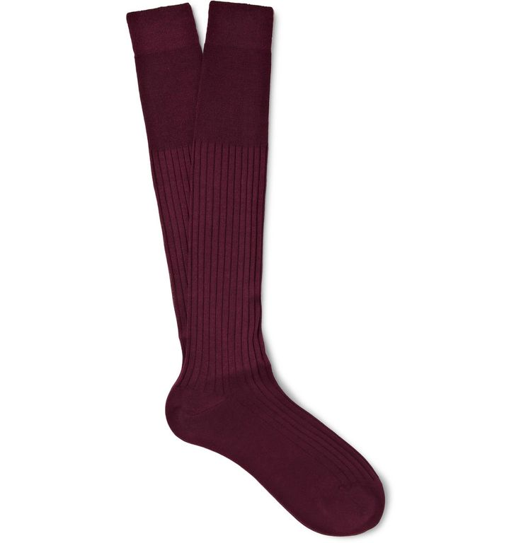 Bresciani - Ribbed Knee-Length Cashmere and Silk-Blend Socks|MR PORTER