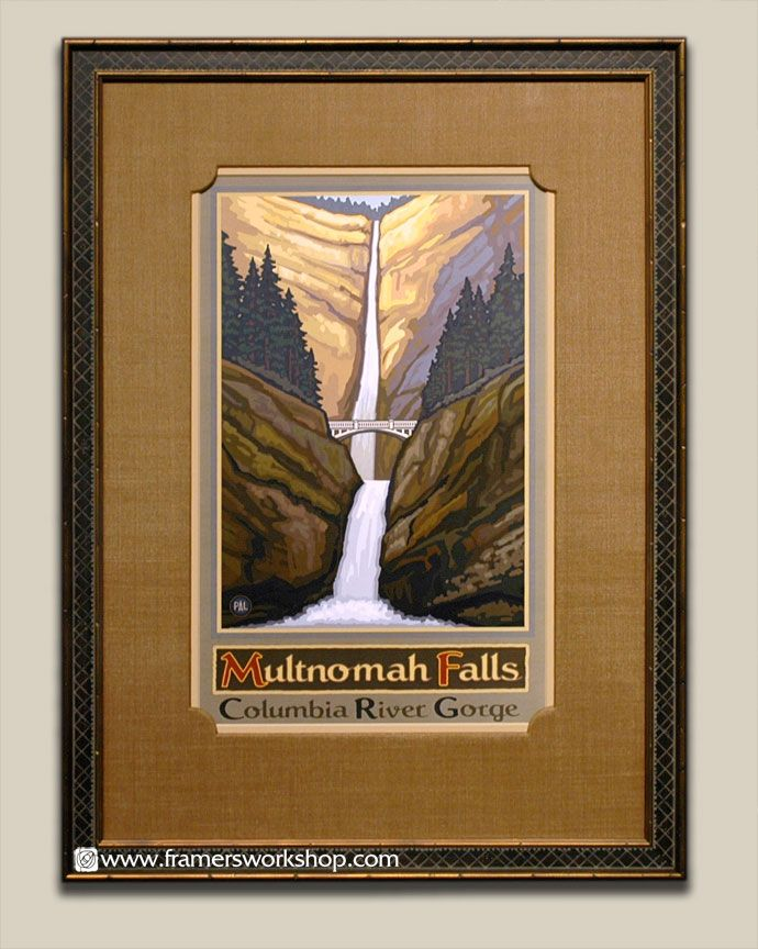 Elegant Lanquist Multnomah Falls Poster