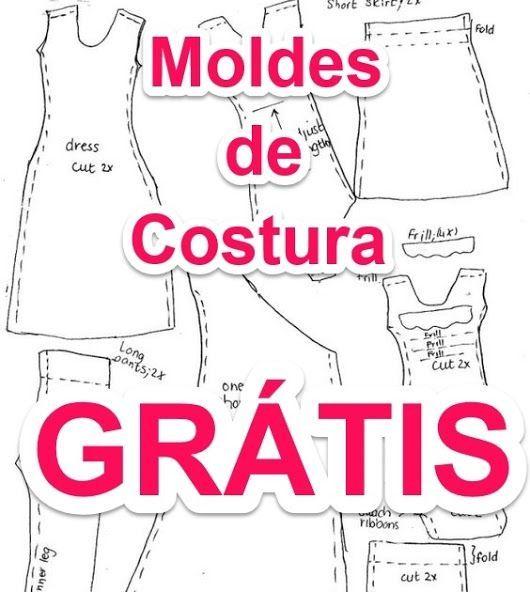 Moldes de Costura #moldes #patrones #patterns #clothes #costura