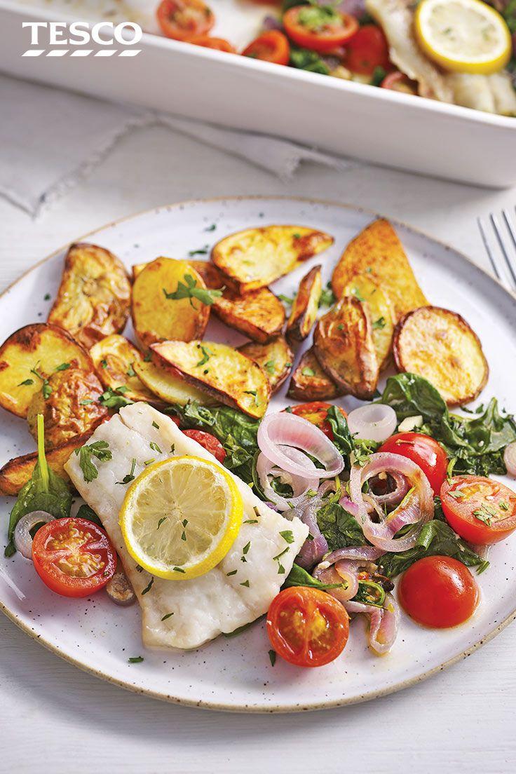 Mediterranean Fish Traybake Fish Recipes Healthy White Fish Recipes Healthy Fish Recipes