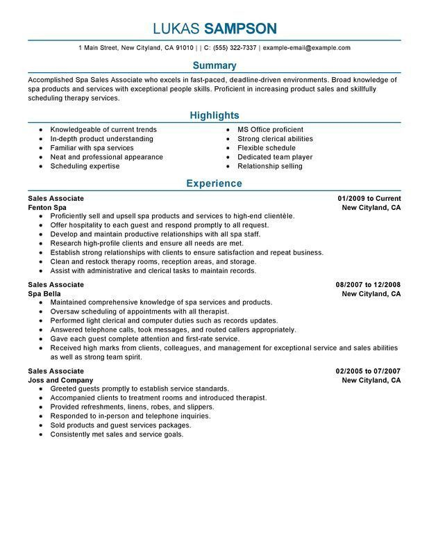 Retail Sales Associate Resume Examples Modern Sales Associate
