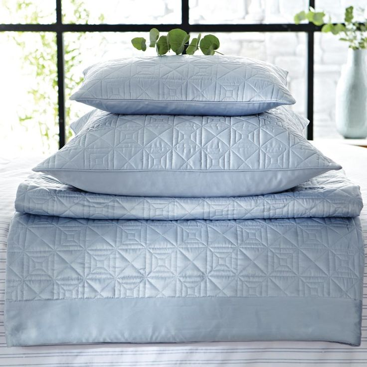 hotel langdon blue satin bedding accessories at bedeck home i would love this pinterest