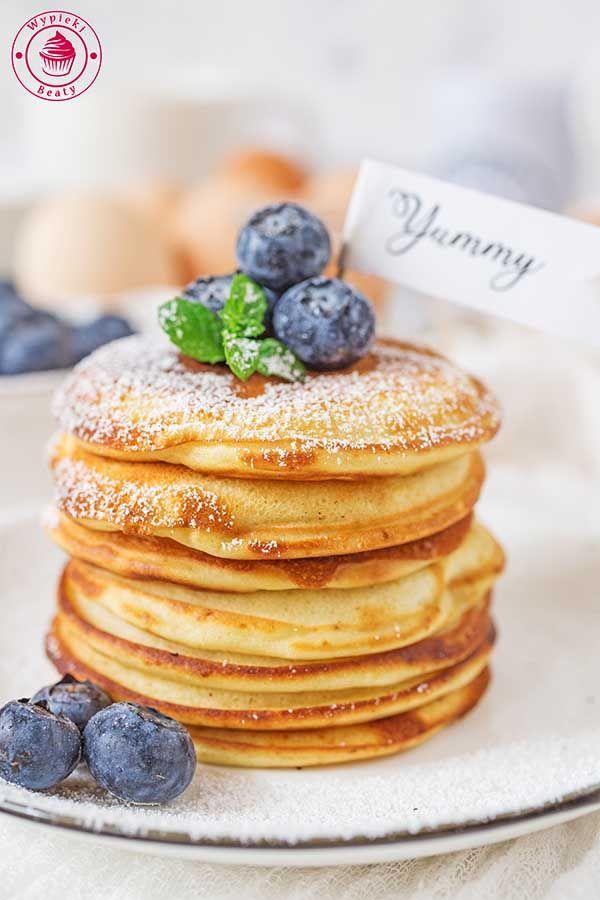 Przepis Na Amerykanskie Pancakes Przepisy Wypieki Beaty Recipe Food Food And Drink Yummy Food