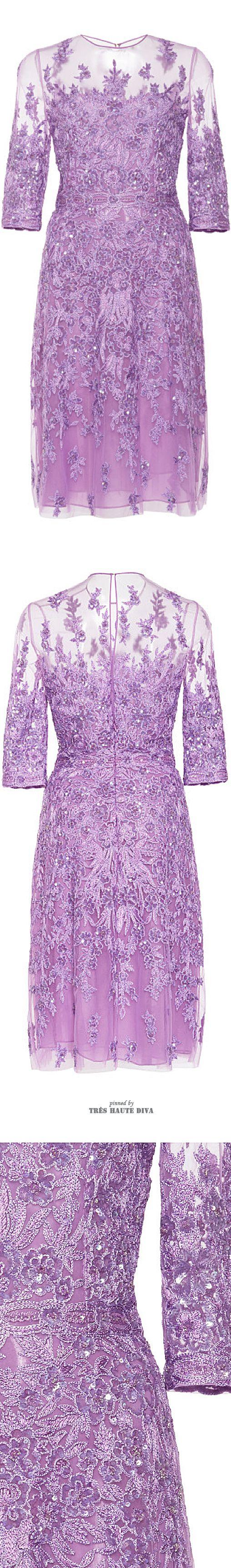 Naeem Khan Lace Embroidered Dress ♔ SS 2015