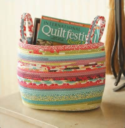 fabric covered clothesline baskets --Indygo Junction