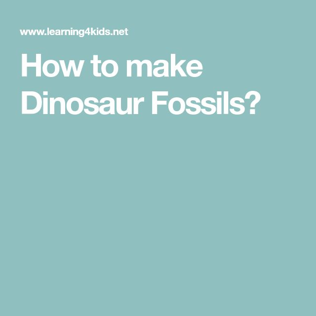 How to make Dinosaur Fossils?