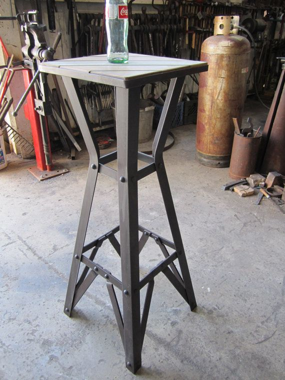 Riveted Industrial Furniture Nightstand Cafe Or Art