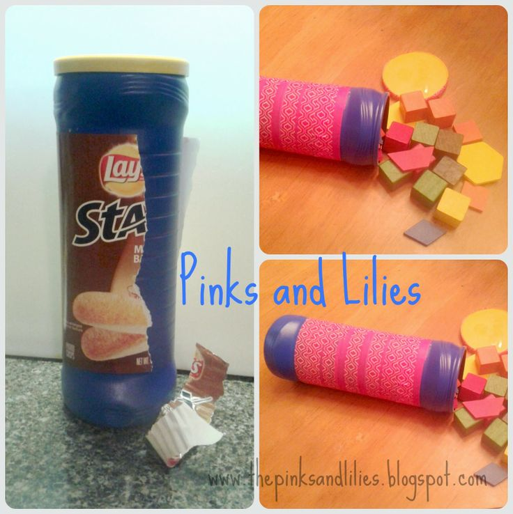 Pinks and Lilies: Lay's Stax Chip Can turned Shape Holder