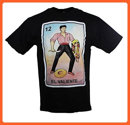 El Valiente Loteria Mexican Lottery Men's Funny T Shirt XXX-Large Black - Funny shirts (*Partner-Link)