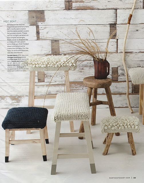 Crocheted covers for stools.......