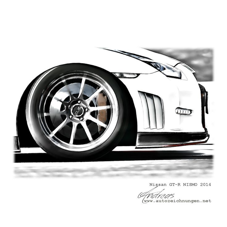 Nissan GT-R NISMO 2014 Pencildrawing By Www