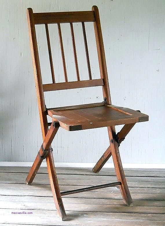 Appealing Vintage Wood Folding Chair Old Wood Folding Chairs