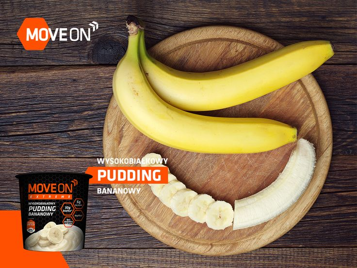 Wysokobiałkowy pudding bananowy MoveOn Extreme! #moveonsport #fit #healthy
