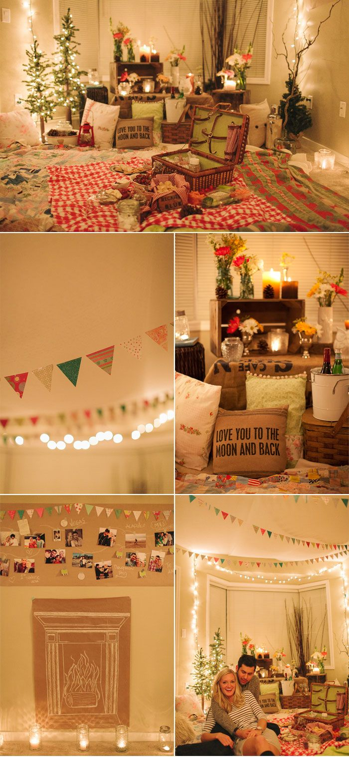 Super Cozy And Romantic Indoor Picnic Proposal Photographed By Mikaela Ruth