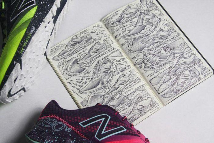 Charles Han – Footwear Sketches